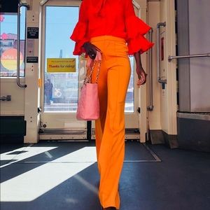 Pants - High waisted high lighter yellow/orange pants